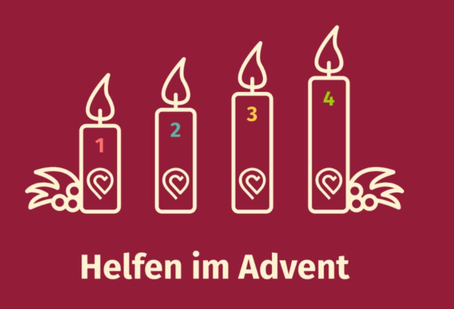 Vier der Größe nach geordneten Adventskerzen.