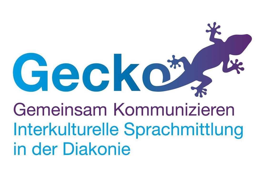 Schriftzug mit einer Gecko-Illustration
